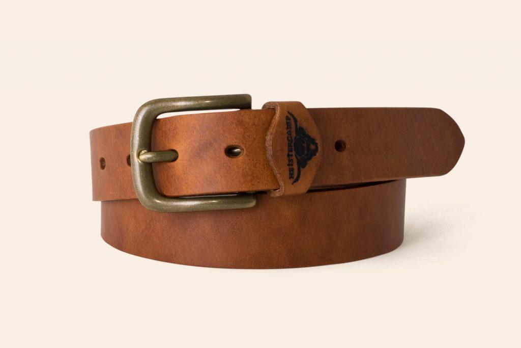 Handmade Leather belt 1¼ Wide Beer - Heistercamp