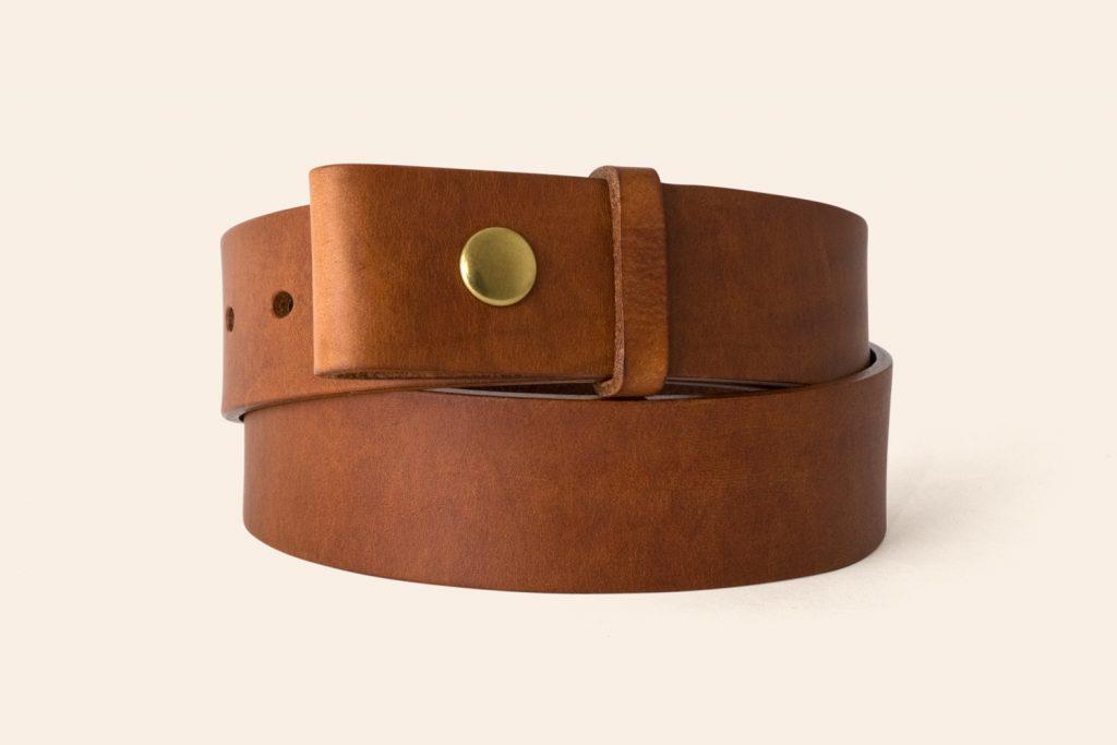 Handmade Leather belt 1½ wide Press Stud | Western Buckles