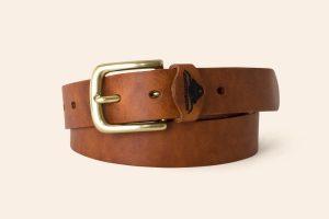 Handmade Leather 1¼ wide Belt| solid Brass buckle | Heistercamp