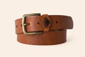 Handmade Leather belt 1½ wide Brixham - Heistercamp