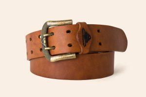 Handmade leather belt 1⅝ wide Liskeard - Heistercamp