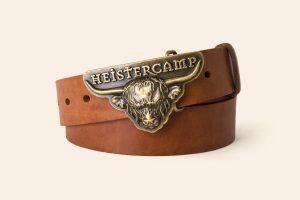 Handmade Leather belt 1 ½ wide| Western buckle | Heistercamp