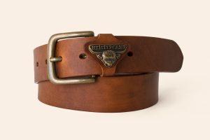 Handmade leather belt 1½ wide Perranporth - Heistercamp