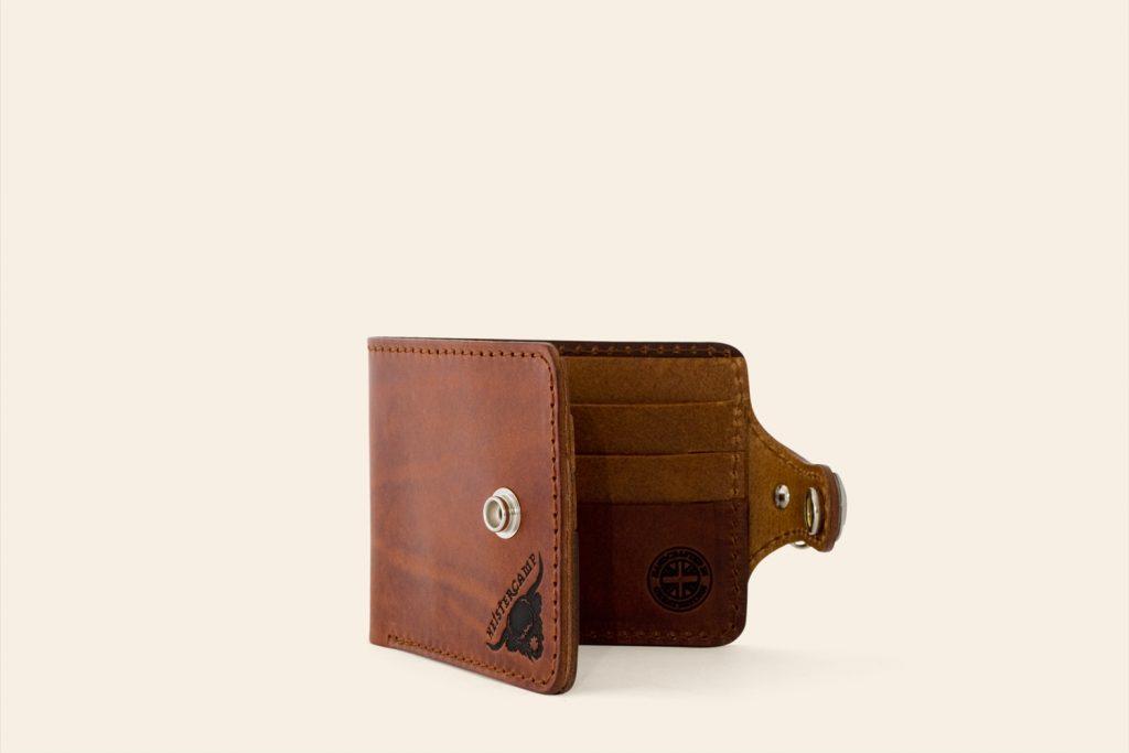 Handmade Leather Small Biker Wallet - Heistercamp