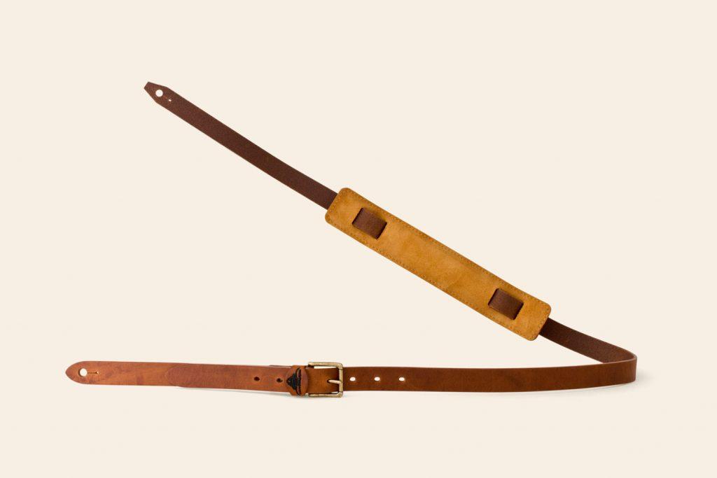 Handmade Ex-Sample Arch Tor leather guitar strap - Heistercamp