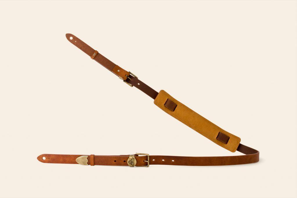 Handmade Wild Tor leather guitar strap Ex Sample