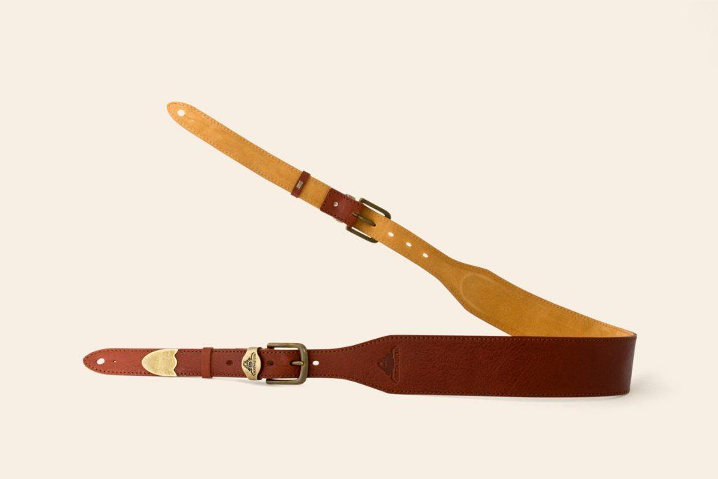 Handmade Kings Tor Padded Super Soft leather guitar strap - Heistercamp